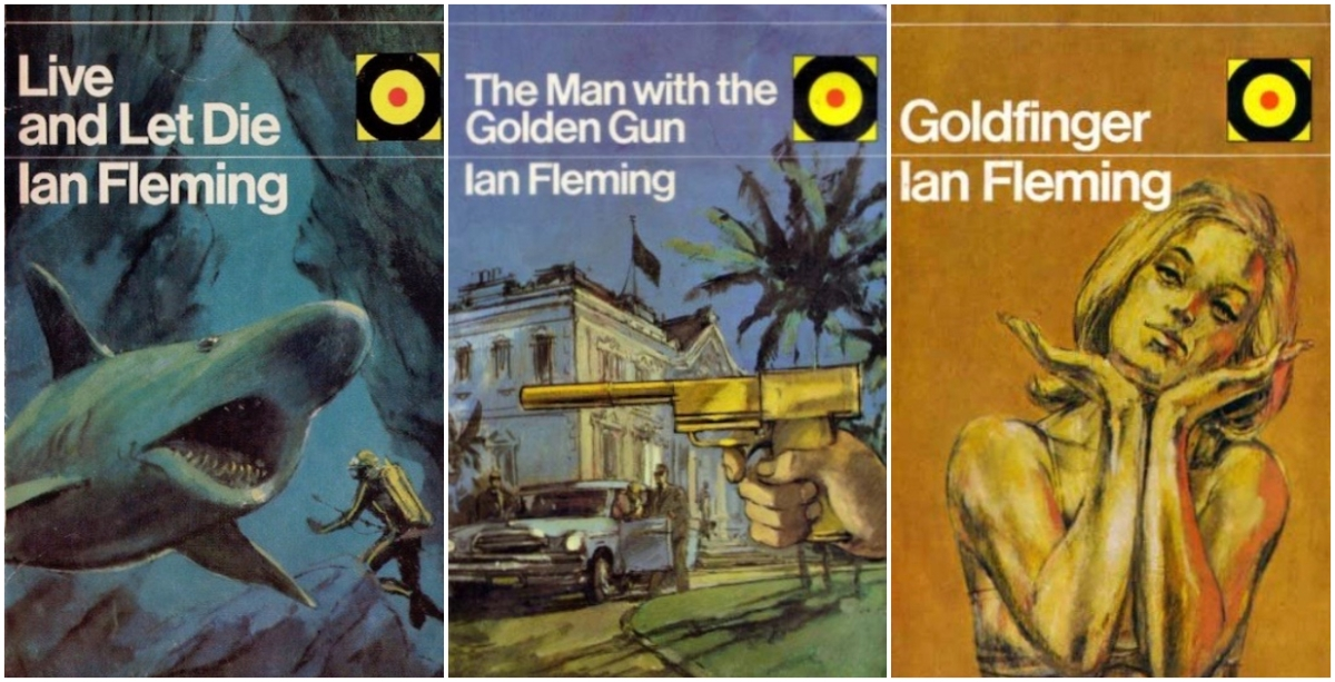 Hutchinson Bulls-Eye editions of James Bond novels with covers designed by Oliver Elmes © Hutchinson - Penguin Random House.