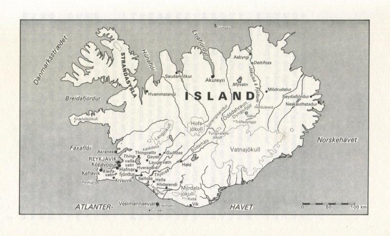 Desmond Bagley Running Blind Danish edition map 1972