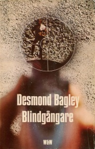 Desmond Bagley Running Blind Swedish edition © Wahlström & Widstrand.