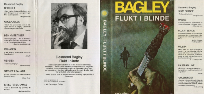 Desmond Bagley Running Blind Norwegian edition 1982