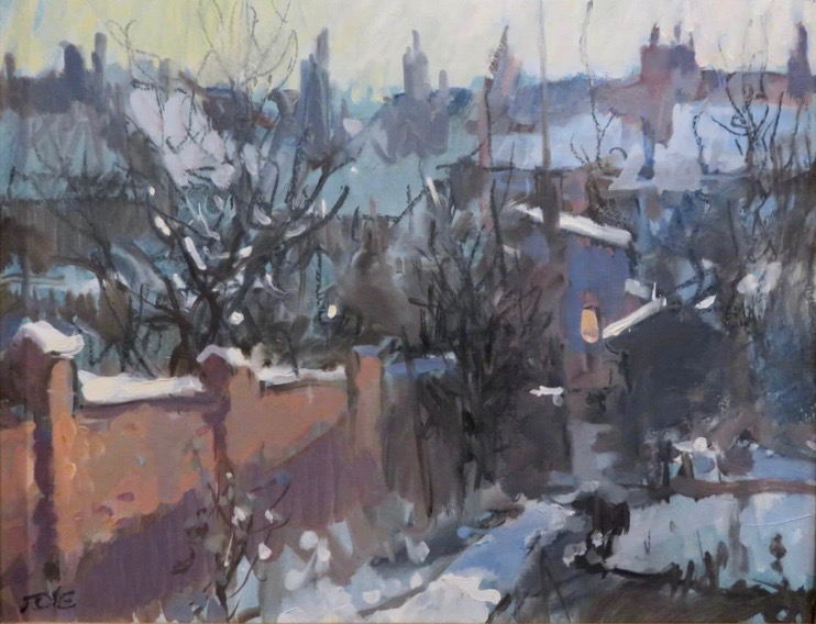 Winter Snow In Essex Oliver Elmes - © T.O. Elmes & reproduced courtesy of the Elmes family.