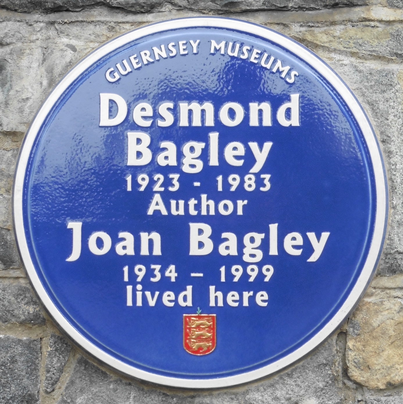 Desmond and Joan Bagley - Blue Plaque Guernsey © The Bagley Brief.