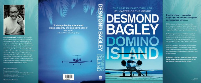 Desmond Bagley - Domino island Uncorrected Proof Cover © HarperCollins Publishers Ltd.