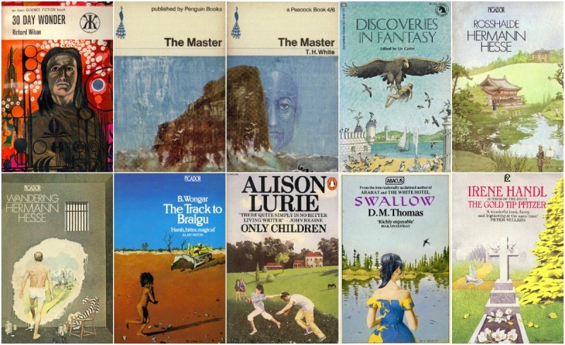 Peter Le Vasseur book cover commissions © Abacus, Ballantine Books, Flamingo, Icon, Penguin, Picador.