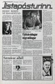 Article on BBC tv series The Assassination Run from Icelandic Newspaper Helgarposturinn 11th April 1979.