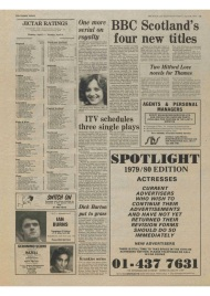 Article on BBC tv series The Assassination Run from The Stage and Television Today 26th April 1979.