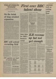 Article on BBC tv series The Assassination Run from The Stage and Television Today 3rd May 1979.