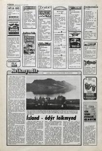 Desmond Bagley Running Blind Icelandic media article from Visir 19th April 1978.