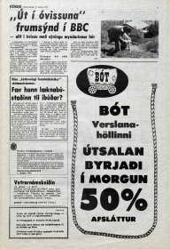 Desmond Bagley Running Blind Icelandic media article from Visir 10th Janaury 1979.