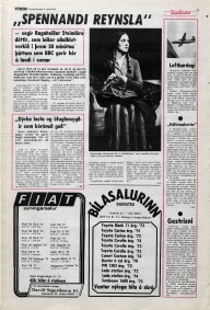 Icelandic media article from April 1978 about Ragnheidur Steindorsdottir and her role in the BBC Scotland adaptation of Desmond Bagley's novel Running Blind.