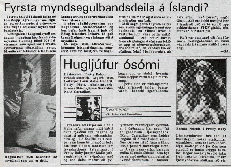 Desmond Bagley Running Blind Icelandic media article from Helgarposturinn 10th November 1979.